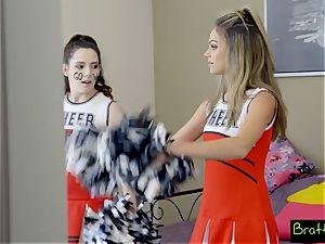 nubile cheerleader smashes her stepbrother