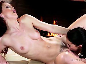 Karlie Montana and Megan Rain astounding facesetting and climax