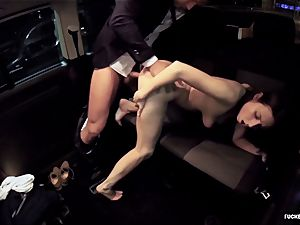 penetrated IN TRAFFIC - red-hot car pound with jaw-dropping Czech babe