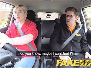faux Driving school Back seat vagina blasting