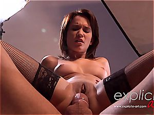 French glamour goddess lea boinked hasty and rock-hard in the caboose