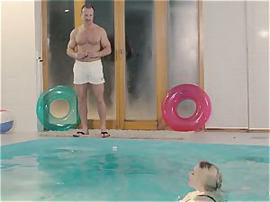 RELAXXXED - huge-boobed british stunner loves molten pool fuckfest