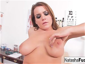 Natasha adorable plays in the Doctors office
