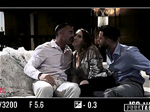 unspoiled TABOO stunner Tricked Into revenge threeway with Strangers