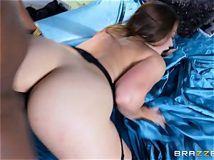 Dani Daniels takes this phat ebony penis with relief