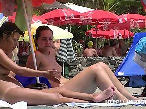 uber-cute youthfull knockers - beach hidden cam video