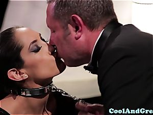 unbelievable Adrianna Luna and Chloe Amour make out after three way