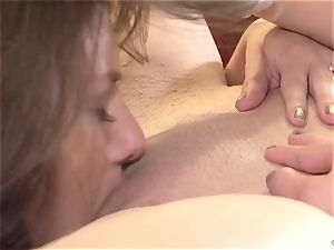 Shyla Jennings tongues on Georgia Jones humid vagina