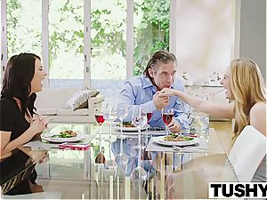 Carter Cruise and Adriana Chechik share a meaty manhood