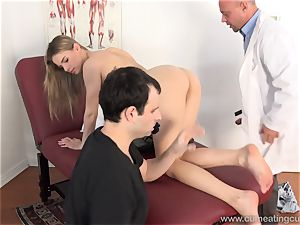 Jillian Gets nailed By Real boy in Front of hubby