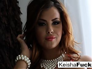 dark-haired sweetheart Keisha Grey rides bone on the sofa