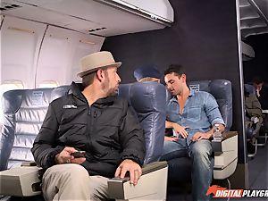 insane stewardess Alexis Adams screwing with the passengers