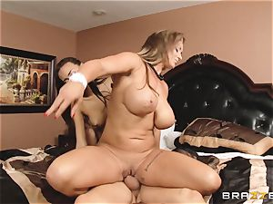 Eva Notty flashes her stepdaughter Janice Griffith how to sate a bone